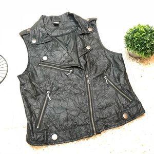 Zara Kids Faux Leather Moto Vest